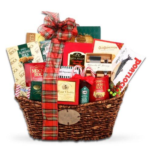 Seasons Greetings Premium Christmas Gift Basket by Organic Stores