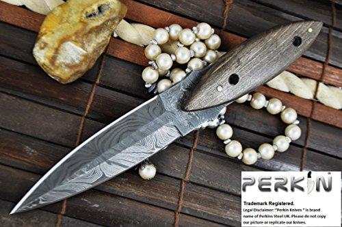 Sale Is Now on - Custom Handmade Damascus Hunting Knife - Double Edge Knife - Full Tang