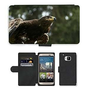 Super Stella Cell Phone Card Slot PU Leather Wallet Case // M00146332 Eagle Eye Adler Bill Raptor Ausschau // HTC One M9