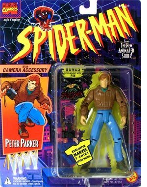 PETER PARKER * With Camera Accessory * 1994 Spider-Man The N