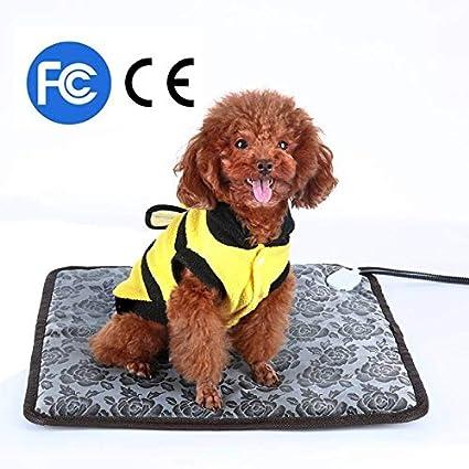 JINGJING 110 V Animales De Invierno Frío Mantener El Calor Mantas Eléctricas Estera Impermeable para Mascotas Calefactor Calentador Accesorios para ...