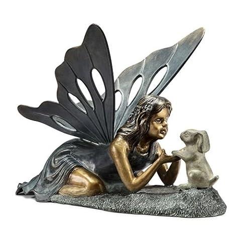 First Friend Fairy Bunny Rabbit Garden Statue Sculpture - Ceramic Tortoise Vases