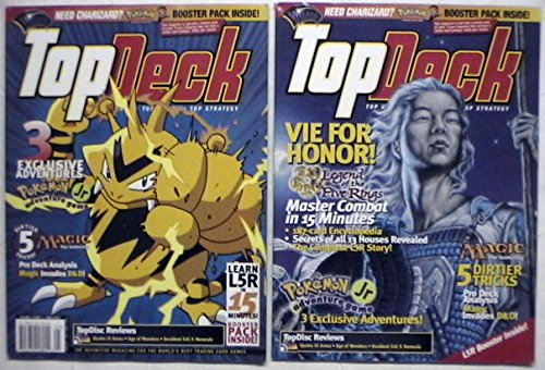 Top Deck Magazine Volume2 Issue 4 with Base set Pokemon 2 Pack and L5R Demo (Deck Pokemon Base Set)