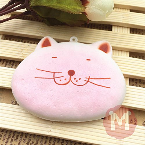 Squishy Toys Colorful Kawaii Cat-Shape Cute Animal Cookies Bread Decor Cellphone Bag Straps (Cute Homemade Ladybug Costumes)