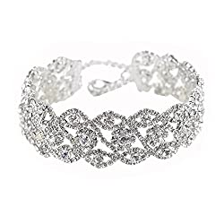Wide Created Crystal Choker 2# Necklace