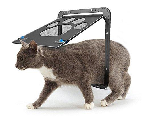 Petetpet Dog Door Cat Doors Pet Screen Door with Magnetic and Automatic Lock,Pet,Puppy,Cat,Dog Flap for Exterior Door Sliding Door and Window