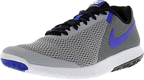 Nike Flex Experience RN 4 Laufschuh Wolf Grey / Racer Blau-Schwarz