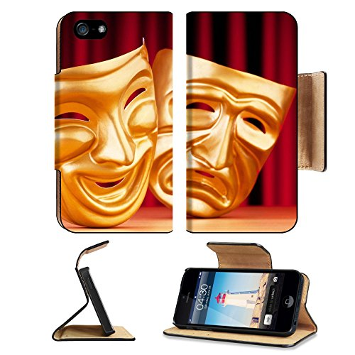 Pantomime Costumes Cheap (Liili Premium Apple iPhone 5 iphone 5S Flip Pu Leather Wallet Case Masks with the theatre concept iPhone5 Photo 9546544 Simple Snap Carrying)
