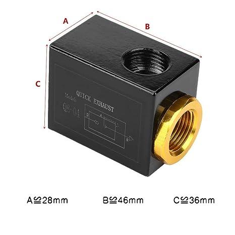 Pneumatisches Einlassanschluss Luftschnellauslassventil Aus Aluminiumlegierung Qe 04 G1 2 Gewerbe Industrie Wissenschaft