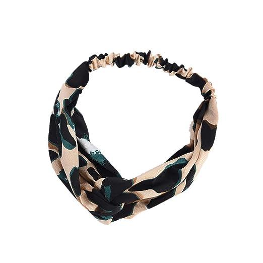 86b1f82403be Boho Leopard Twist Knot Headband Elastic Wrap Turban Hair Band Yoga Sport  Ladies at Amazon Women's Clothing store: