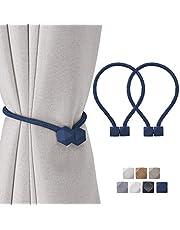 Home Queen Magnetic Curtain Tiebacks, Decorative Drape Tie Backs Holdback Holder for Window Draperies…