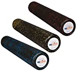 USA Foam Roller, Extra Firm High Density Foam Rollers for Exercise - Available in 36 inch, 18 inch, 12 inch (Choose Color) with 3 Year Warranty