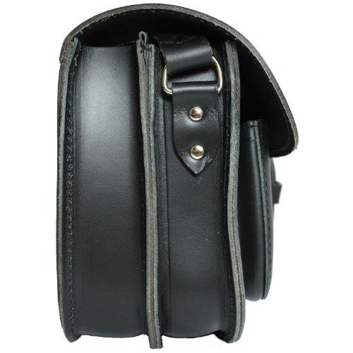 DELARA sac de chasse en cuir noir - Fabriqué en Allemagne