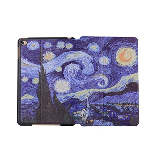 inShang 9.7 inch iPad (2017) Fundas soporte y carcasa para Apple 9.7 inch iPad (2017) , smart cover PU Funda ,art style Star moonliday