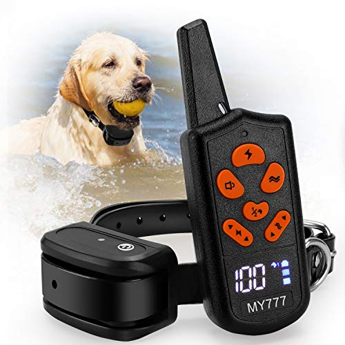 Dog Training Collar with Remote-Shock Collar for Dogs Large,Medium,Small-Waterproof E-Collar w/ 3 Correction Modes, Beep…