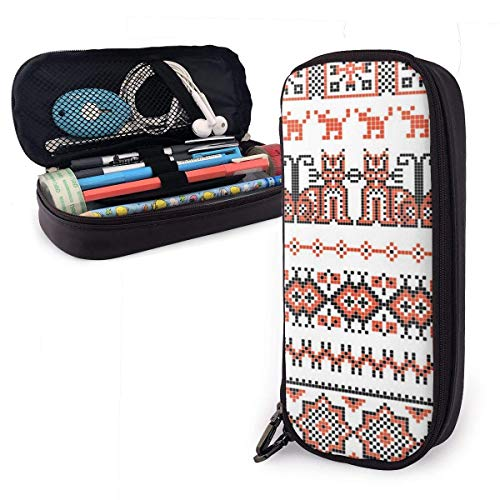Used, Cross Stitch Ethnic Ukraine Leather Pencil Case Pouch for sale  Delivered anywhere in Canada