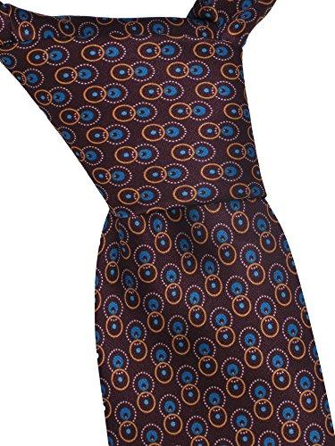 brioni-mens-brown-geometric-print-silk-skinny-neck-tie