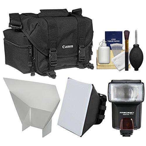 Canon 2400 Digital SLR Camera Case Gadget Bag + Flash + Soft Box + Reflector Kit for EOS 6D, 7D, 77D, 80D, 5D, Rebel T6, T6i, T6s, T7i, SL1, SL2 by Canon