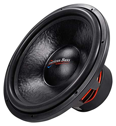 American Bass HD18D2 HD 18' 4000w Competition Car Subwoofer 300Oz Magnet, 3' VC
