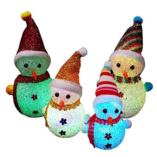 hioplo LED Snow Men Christmas Ornaments DIY Home Party Festival Decoration Wreaths Decor