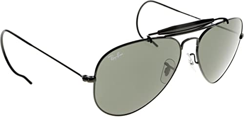 Ray-Ban per uomo RB3030 L9500 (OUTDOORSMAN) – 52 mm (BLACK/crystal green)