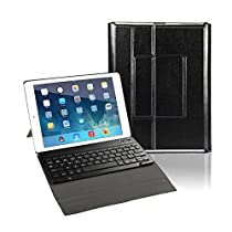 2017 New iPad 9.7 Keyboard Case, CoastaCloud Slim SmartShell Case Stand Cover with Detachable Wireless Bluetooth Keyboard for Apple 2017 iPad 9.7 - Black