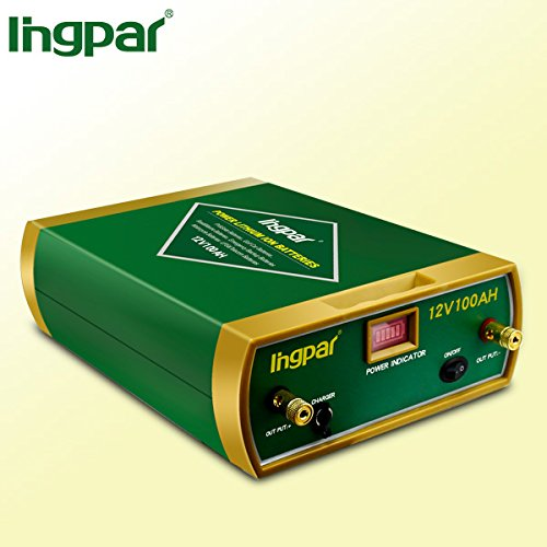 Ingpar Deep Cycle 12v 100ah rechargeable Lithium Battery for Use with Pv Solar Panels,Smart chargers wind Turbine and Inverters Battery backup