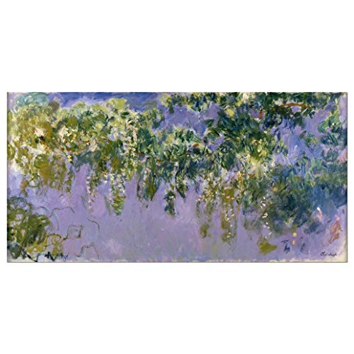 - Wieco Art Wisteria Giclee Canvas Prints Wall Art of Claude Monet Famous Oil Paintings Reproduction Artwork Modern Impressionist Flower Pictures for Home Decorations for Living Room Bedroom Kitchen L