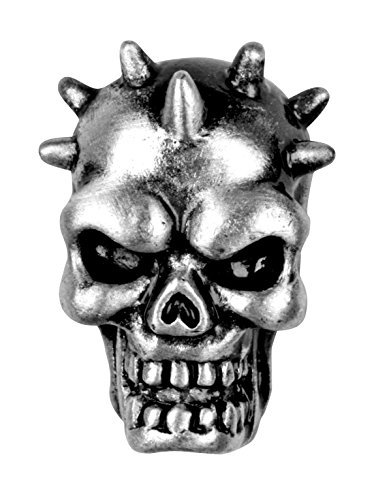 Spike Skull Stud Earrings - Collectible Dangle Jewelry Accessory