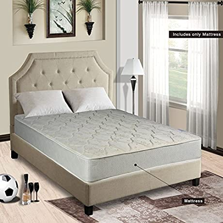 Continental Sleep Hollywood Collection 8 Orthopedic Fully Assembled Mattress Ample Support For Your Back Premium 357 Coil Innerspring Twin