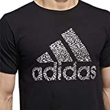 adidas Mens Badge of Sport Graphic Tee, Black/White Static, Size Small