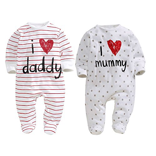 Baby twin gifts amazon unisex baby newborn i love mummy i love daddy bodysuit 2 pack 3 months negle Choice Image