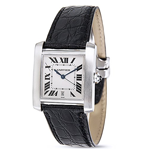 Cartier Tank Francaise 2302 Unisex Watch in Stainless Steel (Certified Pre-owned)
