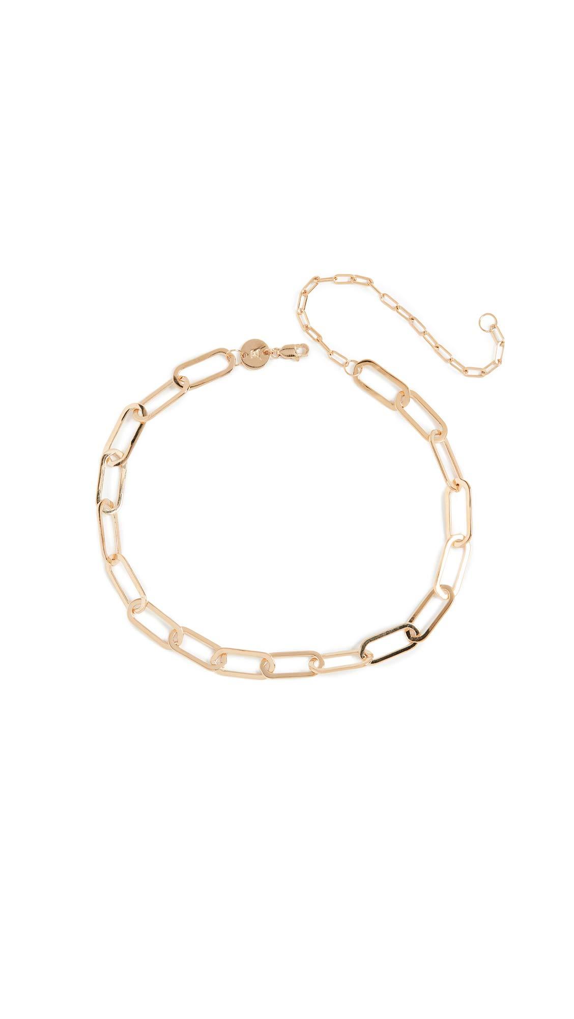 Jennifer Zeuner Jewelry Women's Marta Necklace, Yellow Vermeil, One Size