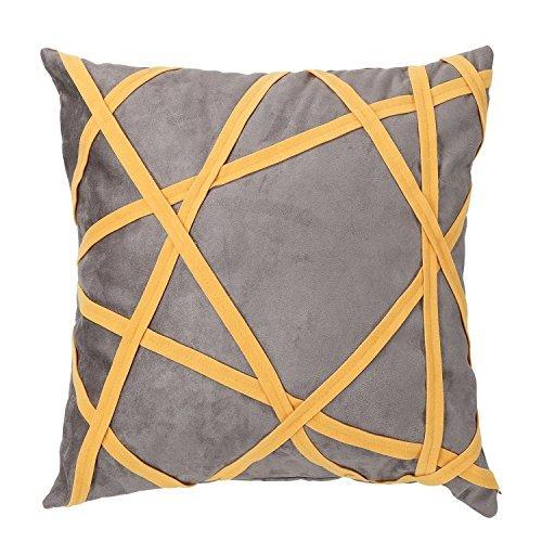 Suave tiempo Simple decorativo Emboidery manta funda de ...
