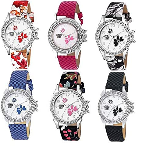 b2b1a0310 Buy Swadesi Stuff Multi Color Stylish Luxury Fashion Watch Combo of 6  Watches fir Women & Girls Online at Low Prices in India - Amazon.in