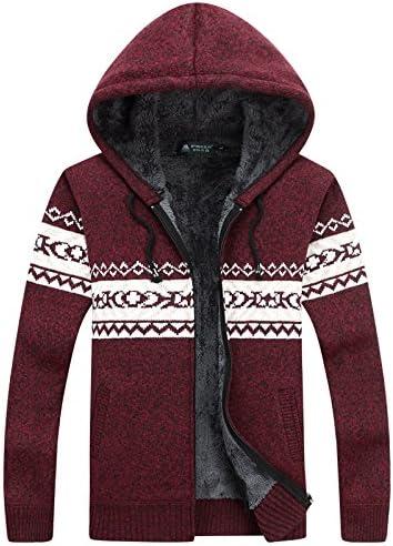 WL-Sweater Hombre de Camisa Abierta en Invierno Incluso Cap Cubra más Gruesa de Terciopelo Grueso suéter de Tejer Lana Gran Placer, código Rojo,XXXL: Amazon.es: Deportes y aire libre