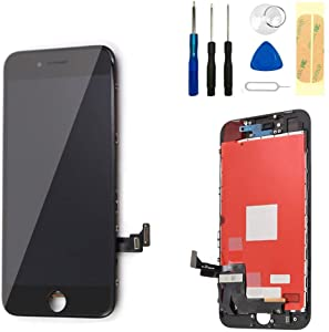 """Master Screen for iPhone 8 Screen Replacement 4.7"""" LCD Display & Touch Screen Digitizer Frame Assembly with Magnetic Repair Tools (Black)"""