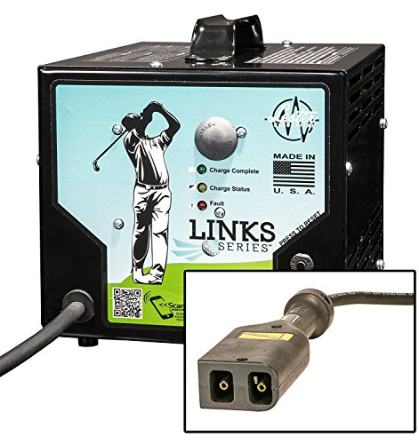36volt 21amp Links Series Golf Car Battery Charger w/ Powerwise/ezgo Txt Connector by Links Series