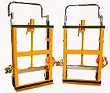 """Conjunto de muebles de elevación hidráulica Wesco 272952, ruedas de poliuretano, 3,950 lb Capacidad de carga, 10 """"Altura de elevación, 26.5"""" x 16 """"x 42"""""""