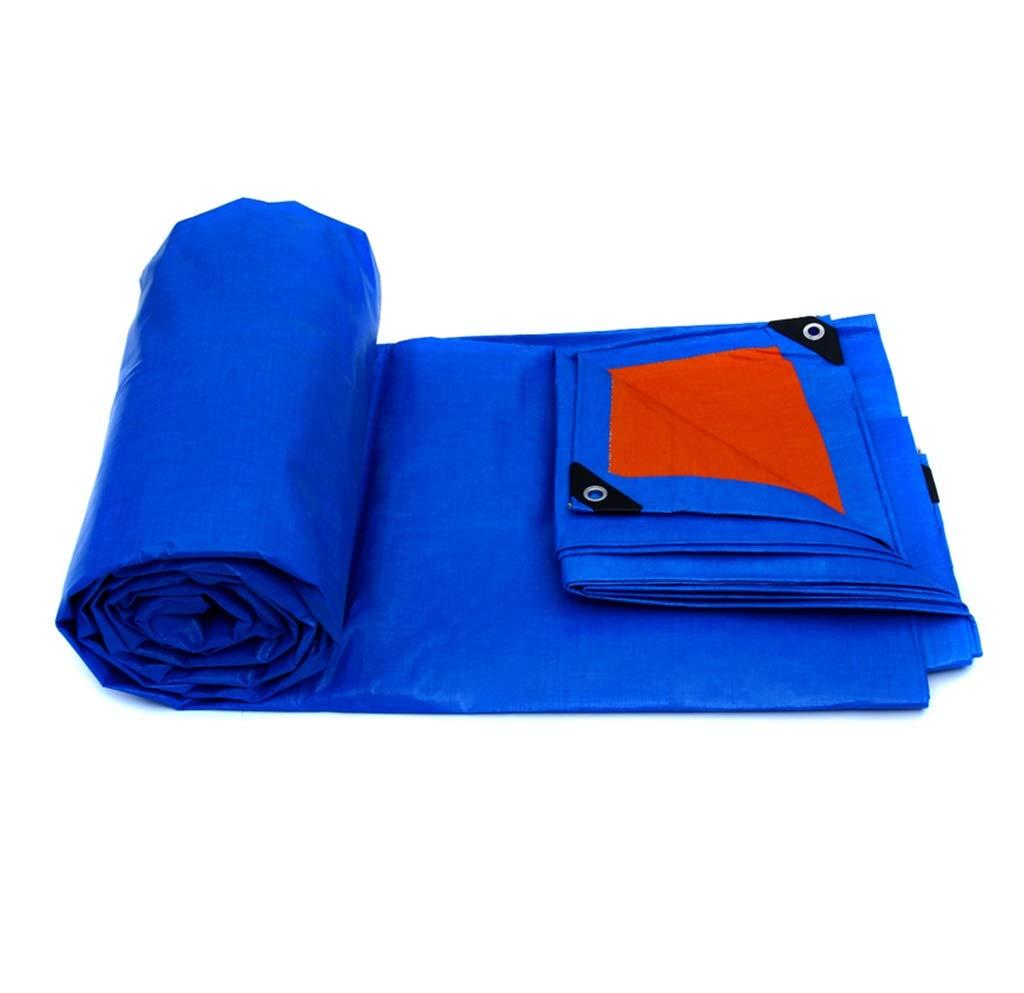 PE大型ターポリン両面防水ヘビーデューティー屋外サンシェードレインサンスクリーン防風トラックカバーカーゴクロスオレンジブルーとグリーン (色 : 青, サイズ さいず : 4X3M) B07GXMY87L 4X3M|青 青 4X3M