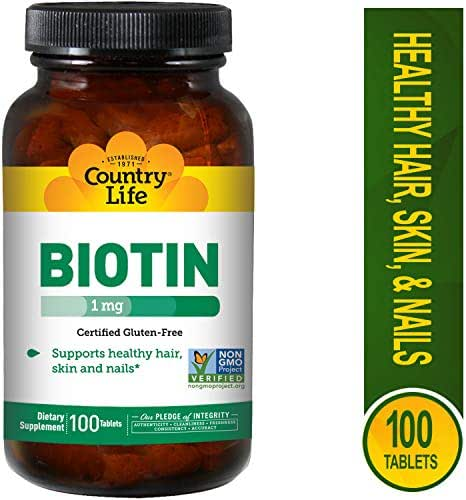 Country Life Biotin 1000 mcg -100 Tablets