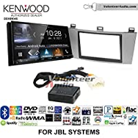 Volunteer Audio Kenwood DDX9904S Double Din Radio Install Kit with Apple CarPlay Android Auto Bluetooth Fits 2004-2008 Toyota Solara with Amplified System (Silver)