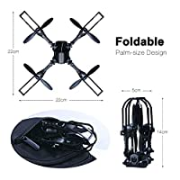 Rolytoy Black Foldable Drone by Rolytoy