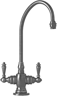 product image for Waterstone 1500-AP Hampton Suite Bar Faucet with Double Lever Handles, Antique Pewter, 1-Pack