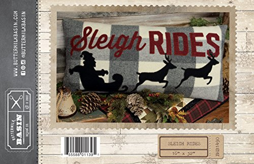 Sleigh Rides Christmas pillow pattern - by Buttermilk Basin - 16