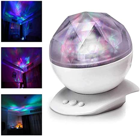 Sliwei Proyector de luz nocturna Aurora LED calmante con control ...