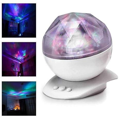 Sliwei Proyector de luz nocturna Aurora LED calmante con ...