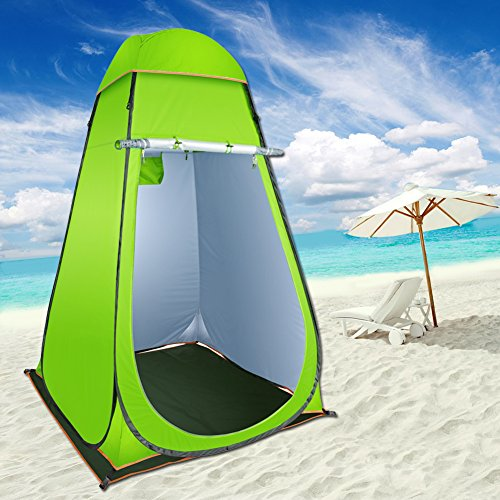 Reliancer Pop-Up Shower Tent Privacy Shelter w/Silver Coating Anti-Peeping Changing Room Waterproof Outdoor Camping Beach Portable Toilet Dressing Room w/Removeable Rain Fly&Floor Mat&Carrying Bag