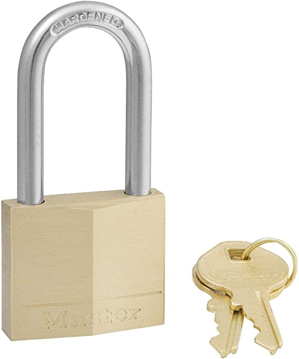 Master Lock 140DLF Padlock with Key, 1 Pack, Brass